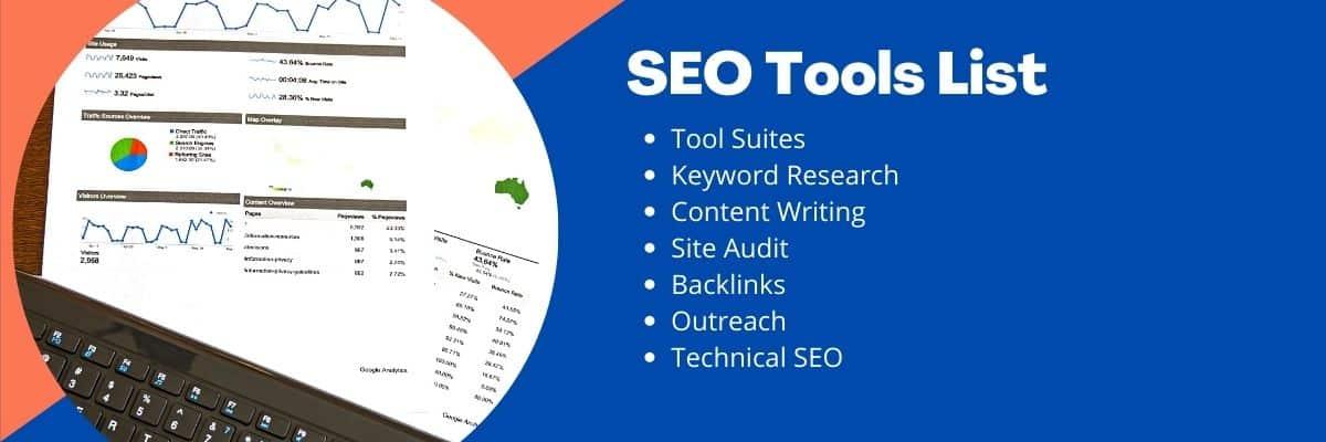 SEo Tools List for digital marketing
