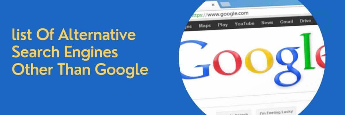 list Of alternative Search Engines