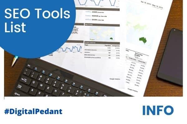 seo tools & software list