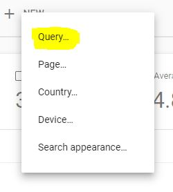 then select the query option