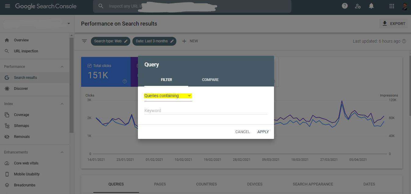 search console query