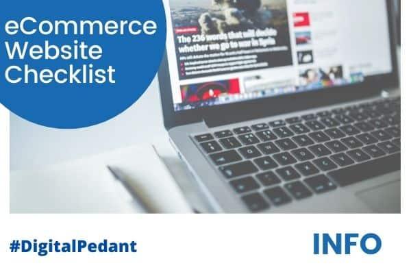 eCommerce Website Checklist